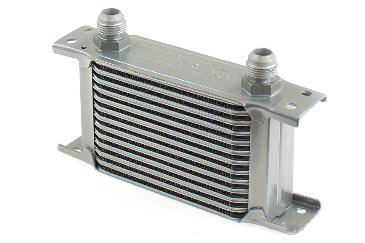 Chłodnica Oleju TurboWorks Slim Line 13-rzędowa 140x100x50 AN10 silver - GRUBYGARAGE - Sklep Tuningowy